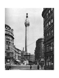 The Monument to the Great Fire  London  1926-1927