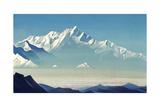 Mount of Five Treasures (Two World), 1933 Giclée par Nicholas Roerich