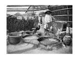 Clarifying Sugar Cane Juce  Annam  Vietnam  1922
