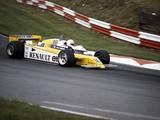 Rene Arnoux Racing a Renault Re20  British Grand Prix  Brands Hatch  1980