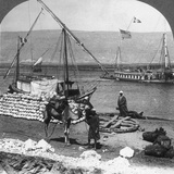 Dahabiyehs on the River Ready for a Nile Voyage  Egypt  1905