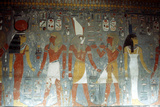 Pharaoh Horemheb with the Goddess Isis and the God Horus  Ancient Egyptian  14th Century Bc