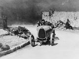 Louis Chiron Driving a Bugatti at the Castellane Hill Climb  Provence  France  1925