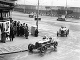 Brian Lewis in an Alfa Romeo Monza in the Mannin Moar Race  Douglas  Isle of Man  1933