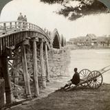 Kintai Bridge over the Nishiki River at Iwakuni  Looking North  Japan  1904