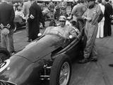 Roy Salvadori in a Maserati  Goodwood  1954
