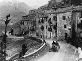 Felice Nazzaro Driving Through Pettralia Sottana in a Fiat  in the Targa Florio Race  Sicily  1907