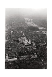 Aerial View of St Paul's Cathedral  London  from a Zeppelin  1931