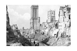 The Ruins and Cathedral of Caen  Normandy  France  C1944