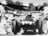Jack Brabham's Cooper in the Pits  Indianapolis 500  Indiana  USA  1961