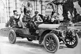King Alfonso XIII in a Hispano-Suiza Car  Palace of La Granja  Segovia  Spain  C1907