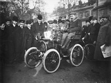 Louis Renault in the Driver's Seat of a Voiturette Renault 1¾ Hp  1899