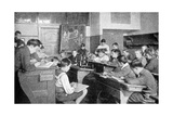 Schoolboys in a Drawing Lesson  Germany  1922