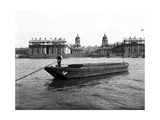 Wooden Lighter and Topsail Barges on the Thames at Greenwich  London  C1905