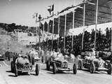 The Starting Grid for the Nice Grand Prix  1934