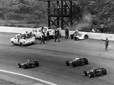 Accident at the Indianapolis 500  Indianapolis  Indiana  USA  1974