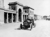 Louis Wagner Driving a Fiat  Coppa Fiorio Motor Race  Bologna  Italy  1908