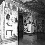 Painted Tomb Chamber Hewn in the Rock of the Cliffs at Thebes  Egypt  1905