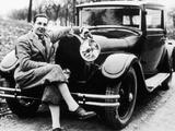 Jean Bugatti Pictured with a Bugatti Car  1930S