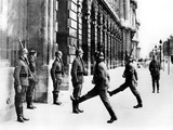 German Soldiers on Guard Duty Outside the Hotel Crillon  Paris  7 October 1940