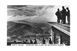 Sunshine and Clouds on Snowdon's Summit  North Wales  1936