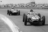 Graham Hill and Jack Brabham Racing in the XI British Grand Prix  Silverstone  July 1958