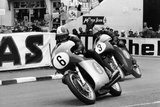 Giacomo Agostini on Bike Number 6  Tom Dickie on Bike Number 3  Isle of Man Junior TT  1968