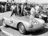 Stirling Moss with Porsche RSK, Goodwood, Sussex, 1955 Papier Photo
