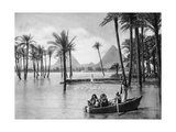 The Pyramids of Giza During a Flood  Cairo  Egypt  C1920S