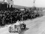 Christian Lautenschlager Passing the Tribunes  in the Targa Florio Race  Sicily  1922