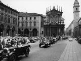 Fiats at a Rally  Turin  Italy  C1960