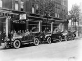 Cadillac Cars Preparing to Start on the Austrian Alpine Trial  1914