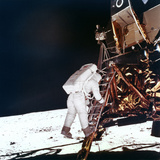 Edwin Buzz Aldrin Descends the Steps of the Lunar Module Ladder to Walk on the Moon  1969