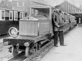 Rolls-Royce Silver Ghost Locomotive on the Romney  Hythe and Dymchurch Railway  1933
