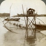 Toiler of the Sea  with His Curious Fishing Net  Bay of Matsushima  Japan  1904
