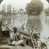 Houseboat Party  Jhelum River  Kashmir  India  C1900s