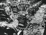 Bomb Damage at a Renault Factory  Sevres  Paris  4 April 1943