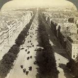 Champs Elysees from the Arc De Triomphe  Paris  France  19th Century