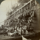 Coaling the Pacific Mail Ss 'Siberia  at the Fortified Naval Station of Nagasaki  Japan  1904