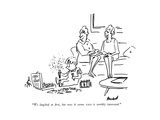 """We laughed at rst  but now it seems NASA is terribly interested"" - New Yorker Cartoon"