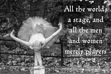 Ballerina Street Performer in Central Park  NYC with William Shakespeare Quote