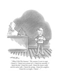 """ 'What I Did This Summer' This summer  I went to camp I hated it I hat…"" - New Yorker Cartoon"