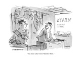 """You know what I love Butcher block""One butcher to another in butcher s - New Yorker Cartoon"