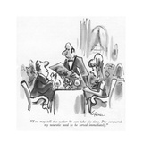 """""""You may tell the waiter he can take his time I've conquered my neurotic …"""" - New Yorker Cartoon"""