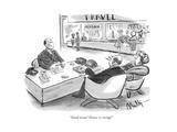 """Good news! Venice is rising!"" - New Yorker Cartoon"