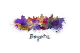 Bogota Skyline in Watercolor