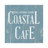 Coastal Cafe Square Reproduction d'art par Elizabeth Medley