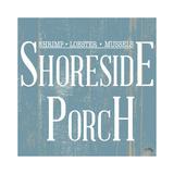 Shoreside Porch Square Reproduction d'art par Elizabeth Medley