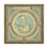 North and South Maps I Giclée premium par Elizabeth Medley