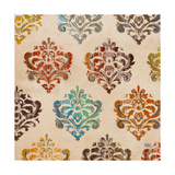 Colorful Damask Square I